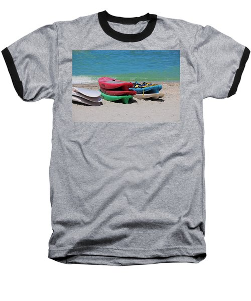 Baseball T-Shirt featuring the photograph Oh The Beach Life by Michiale Schneider