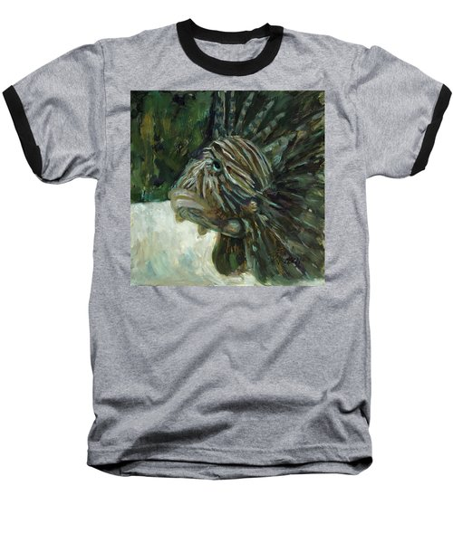 Baseball T-Shirt featuring the painting Oh The Troubles I've Seen by Billie Colson