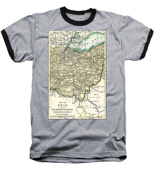 Ohio Antique Map 1891 Baseball T-Shirt