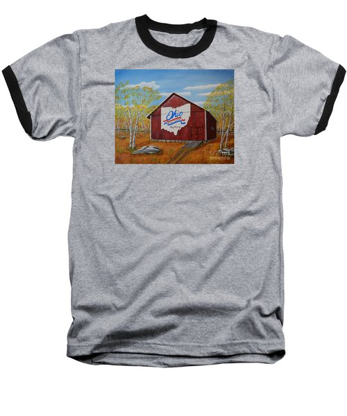 Ohio Bicentennial Barns 22 Baseball T-Shirt by Melvin Turner