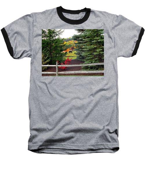 Ohio Farm In Autumn Baseball T-Shirt