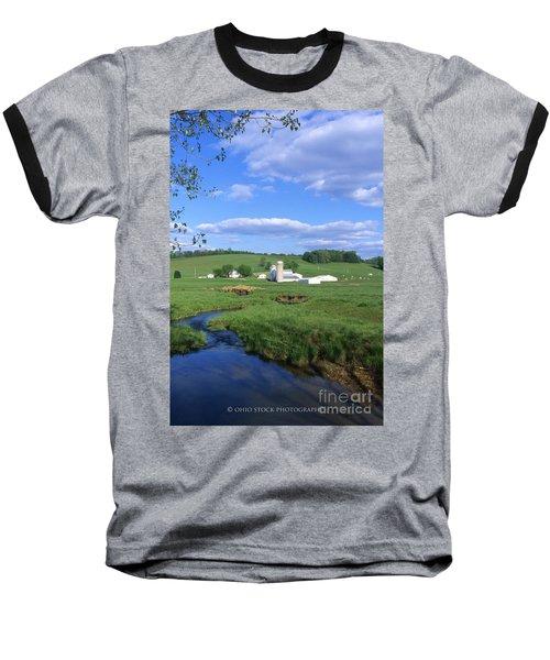 3d203 Ohio Farm Photo Baseball T-Shirt