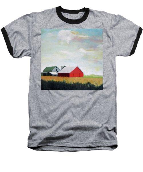 Ohio Farmland- Red Barn Baseball T-Shirt