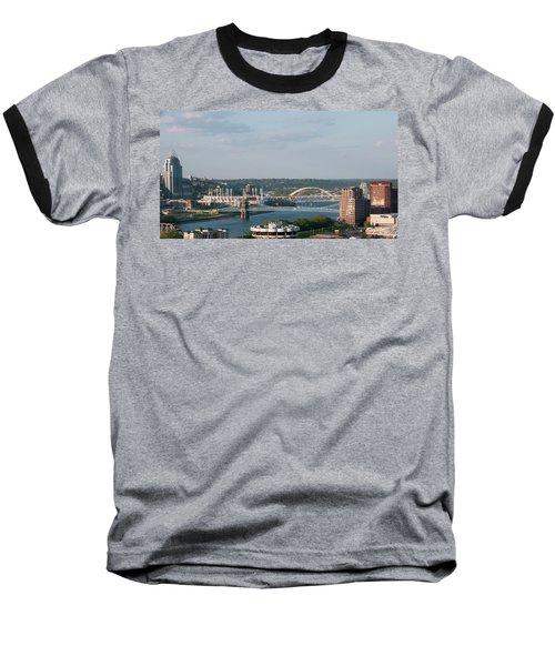 Ohio River's Suspension Bridge Baseball T-Shirt