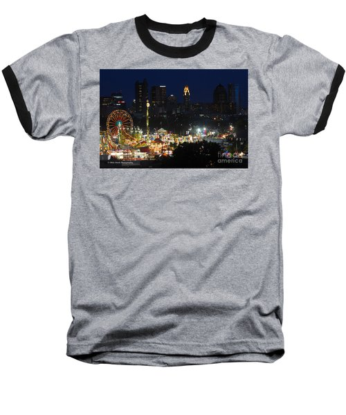 D3l-464 Ohio State Fair With Columbus Skyline Baseball T-Shirt