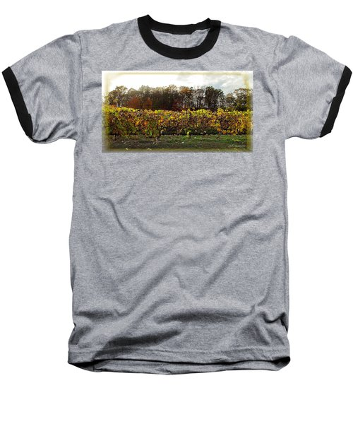 Baseball T-Shirt featuring the photograph Ohio Winery In Autumn by Joan  Minchak