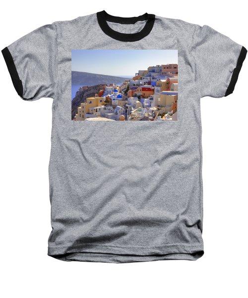 Oia - Santorini Baseball T-Shirt