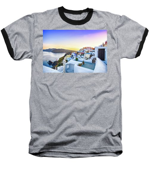 Oia, Santorini - Greece Baseball T-Shirt by Stavros Argyropoulos