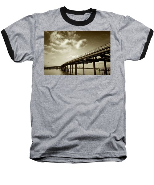 Oil Bridge II Baseball T-Shirt by Joseph Westrupp