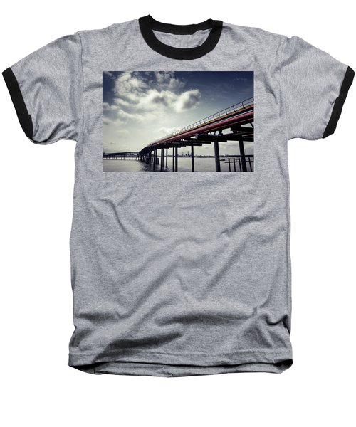 Oil Bridge Baseball T-Shirt by Joseph Westrupp