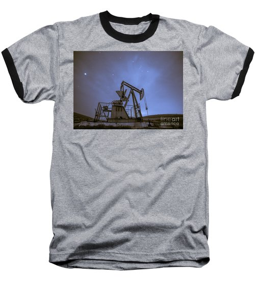 Oil Rig And Stars Baseball T-Shirt