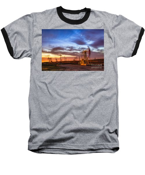 Oil Rigs 3 Baseball T-Shirt