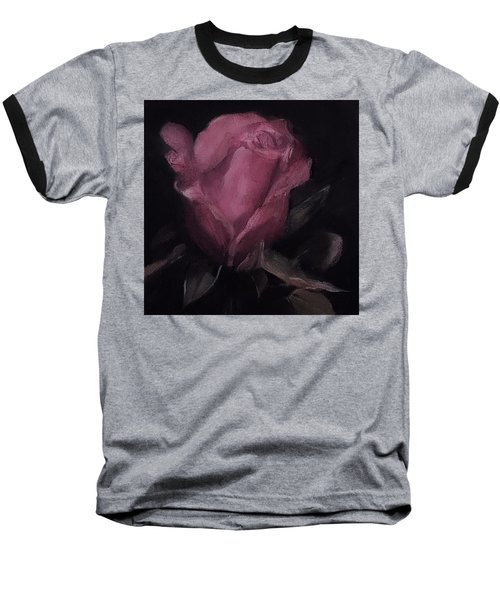 Oil Rose Painting Baseball T-Shirt by Michele Carter