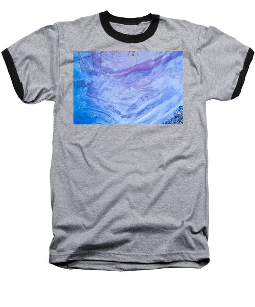 Oil Spill On Water Abstract Baseball T-Shirt