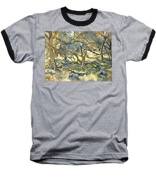 Oilve Grove Marmari Beach Baseball T-Shirt