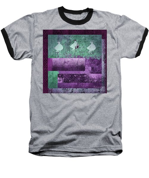 Baseball T-Shirt featuring the digital art Oiselot 01 - J097179222-bl02a by Variance Collections