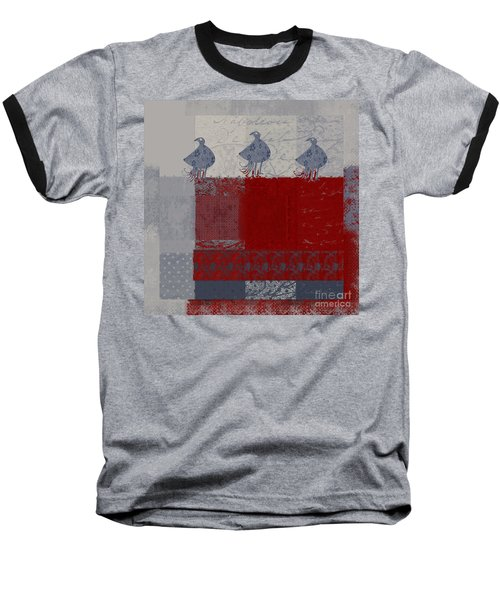 Baseball T-Shirt featuring the digital art Oiselot - J106161103_02bb by Variance Collections
