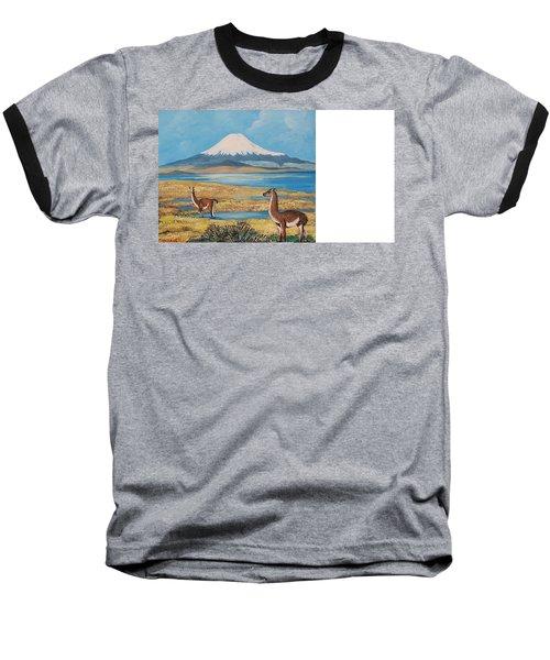 Ojos Del Salado Volcano Baseball T-Shirt