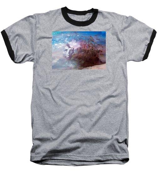 Baseball T-Shirt featuring the painting Okanokumo by Ed  Heaton