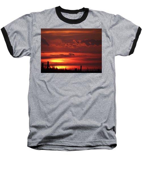 Oklahoma Sky At Daybreak  Baseball T-Shirt