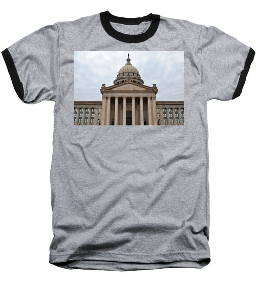 Oklahoma State Capitol - Front View Baseball T-Shirt