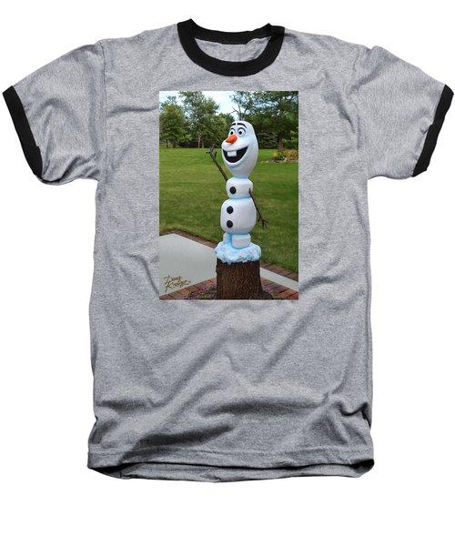 Olaf Wood Carving Baseball T-Shirt