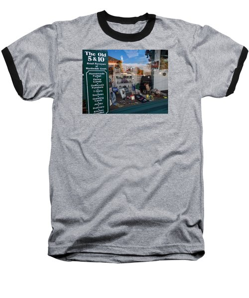 Baseball T-Shirt featuring the photograph Old 5 And 10 North Conway by Nancy De Flon