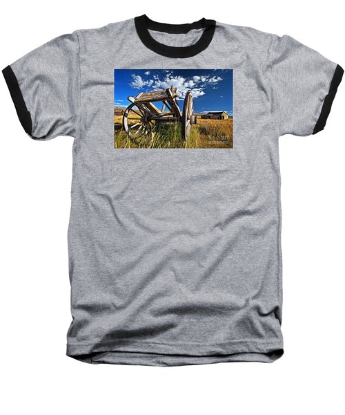 Old Abandoned Wagon, Bodie Ghost Town, California Baseball T-Shirt by Sam Antonio Photography
