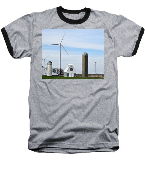 Old And New Farm Site Baseball T-Shirt by Kathy M Krause