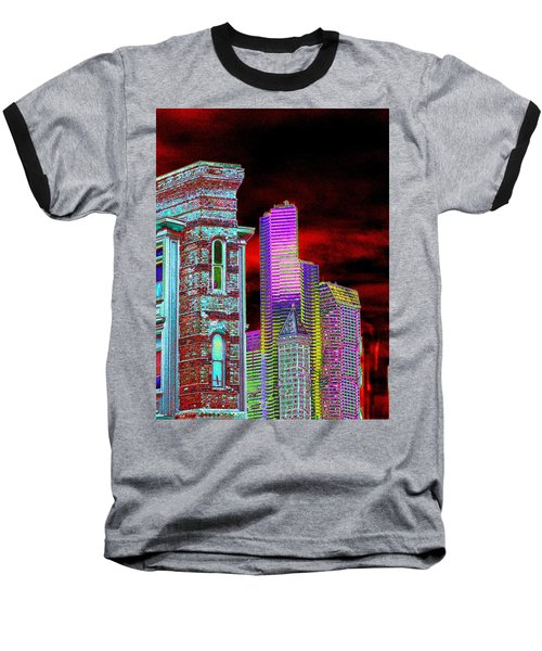 Old And New Seattle Baseball T-Shirt by Tim Allen