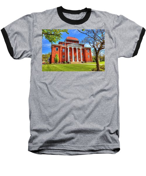 Old Ashe Courthouse Baseball T-Shirt by Dale R Carlson