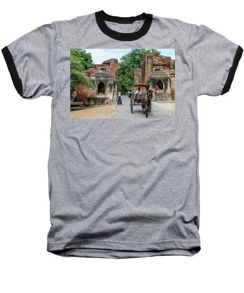 Old Bagan Baseball T-Shirt by Werner Padarin