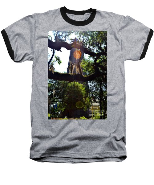 Old Baldy Lighthouse And Tree Baseball T-Shirt