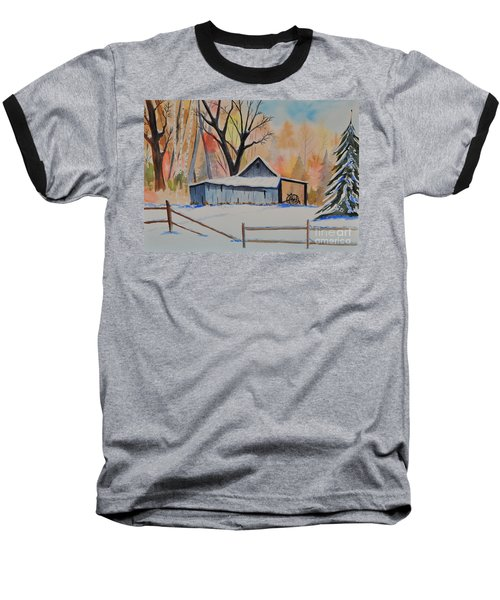 Old Barn II Baseball T-Shirt