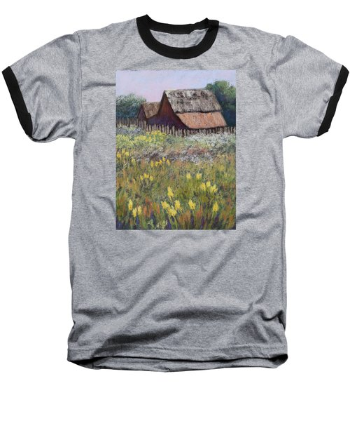 Old Barn In Spring Baseball T-Shirt by Nancy Jolley