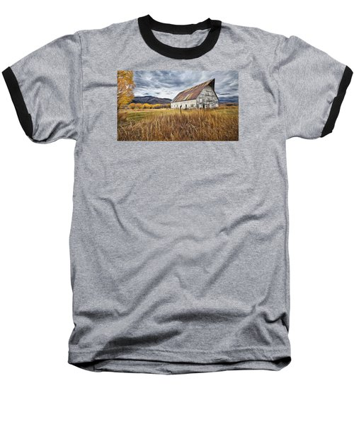 Baseball T-Shirt featuring the photograph Old Barn In Steamboat,co by James Steele