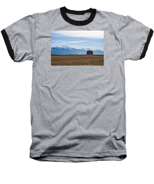 Old Barn, Mission Mountains Baseball T-Shirt