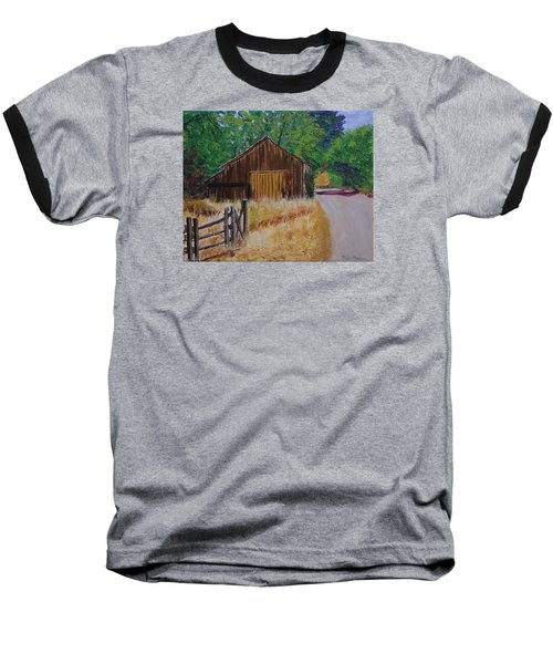 Old Barn Sonoma County Baseball T-Shirt by Mike Caitham