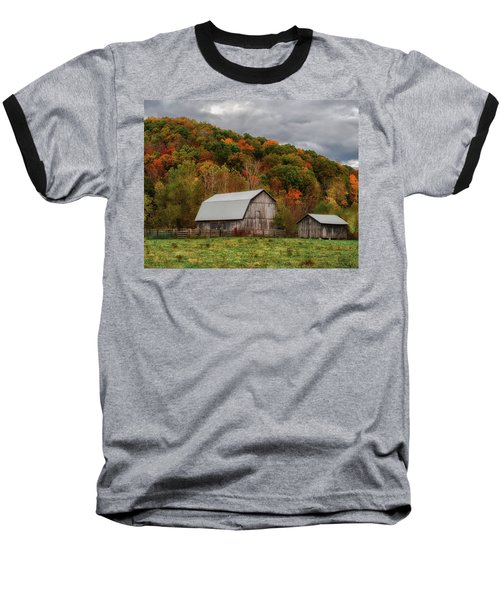 Old Barns Of Beauty In Ohio  Baseball T-Shirt