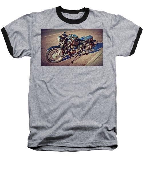 Old Beamer Motorcycle Baseball T-Shirt