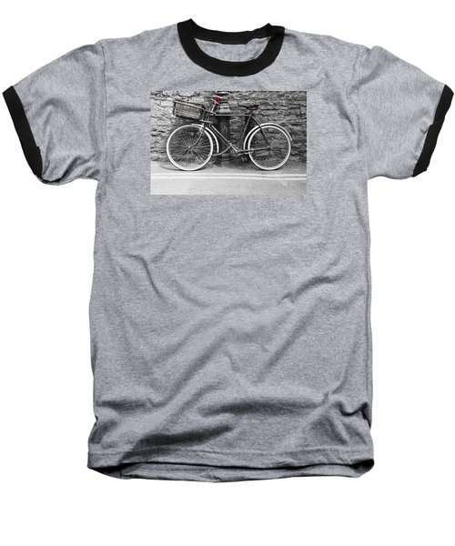 Old Bicycle Baseball T-Shirt by Helen Northcott