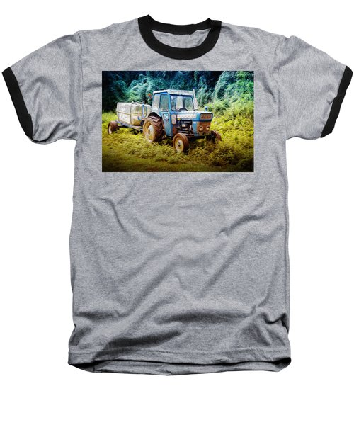 Old Blue Ford Tractor Baseball T-Shirt