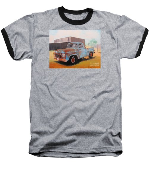 Old Blue Ford Truck Baseball T-Shirt