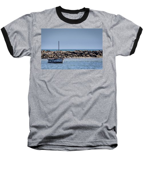 Old Boat - Half Moon Bay Baseball T-Shirt