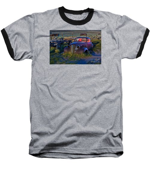 Old Bodie Car By Moonlight Baseball T-Shirt
