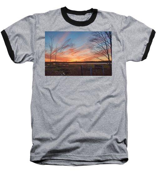 Old Bog Sunset Baseball T-Shirt