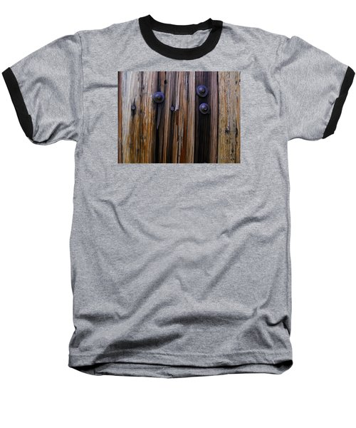 Old Door With Bolts And Nails Baseball T-Shirt