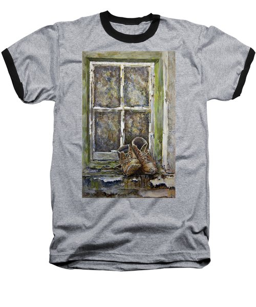 Old Boots Baseball T-Shirt by Marty Garland