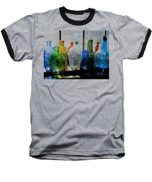 Old Bottles Baseball T-Shirt by John Scates