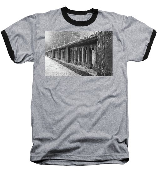 Baseball T-Shirt featuring the photograph Old Bridge In Black And White by Angi Parks